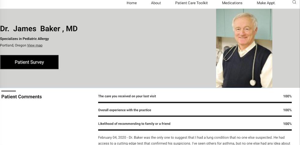 Medical Professional Profile of Dr. James Baker