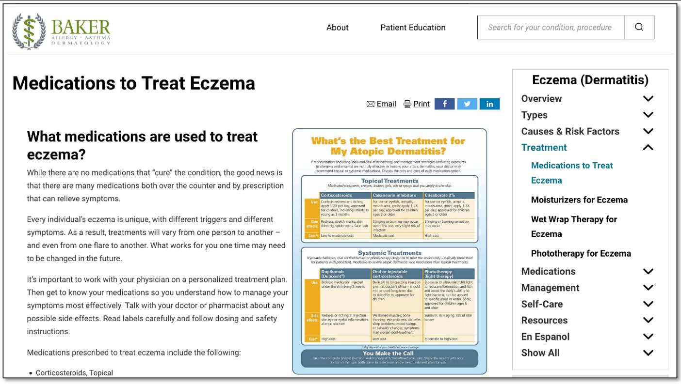 Eczema Medications